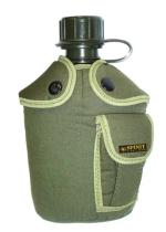 Cantimplora con funda con bolsillo verde 1 Litro Spinit