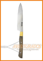 Cuchillo CHICO DE ASADO acero inoxidable 2 mm con Bronce ARTESANAL