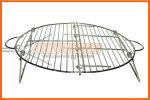 Parrilla de alambre cromado plegable REDONDA de 40 cm de diámetro Brogas