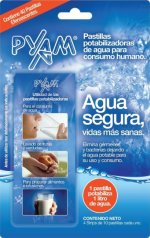 Pastillas potabilizadoras de agua Pyam